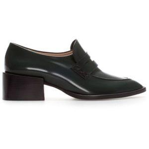 Zara green loafers